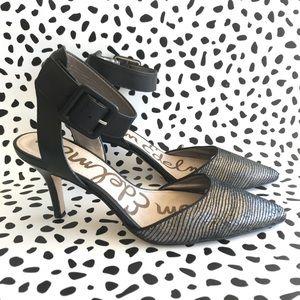 Sam Edelman Womens Pumps 6.5 Heels Black Gold